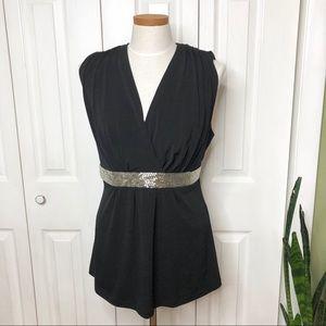 Torrid black sleeves too with beaded belt - sz 2